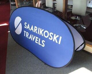 Banneri Saarikoska Travels 200x100cm