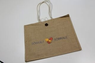 Jute bag with logo