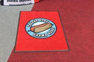 Door mat with logo