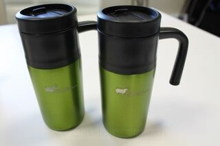 Thermal mug with logo