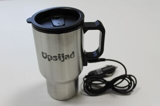 Travel mug with logo