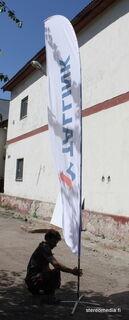 T-M beachflag mainosvälineena