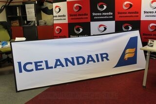 Icelandair 3x1m advertisement banner