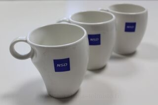 Porcelain mug with logo NSD