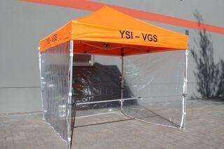 3x3m oranssi pop up teltta