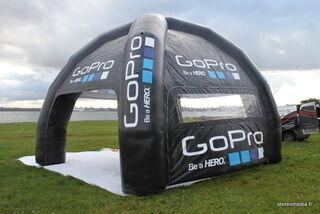 5x5 ilmatäytteinen teltta