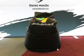 Logolla säkkituoli JR Kuljetus.fi