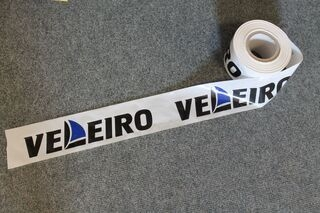 Warning foil with logo Veleiro