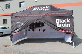 Black Bruin digiprinted tent
