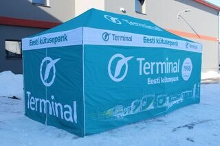 3x6m advertising tent for Tartu Terminal
