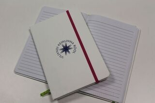 Notebook with logo