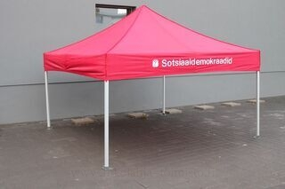 3x3m logolla pop up teltta