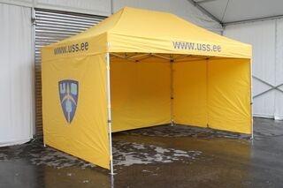 Uss.ee logolla popup teltta