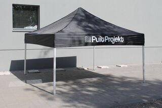 Custom printed tent