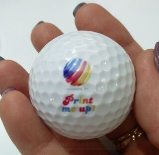 Golf ball with print