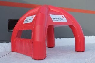 Inflatable tent 4x4m Punainen Risti