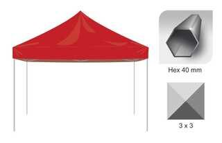 Tents Hex 40 mm frame