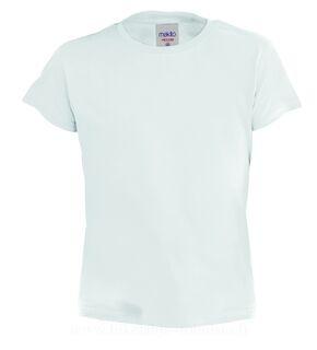 Valkoinen Lasten T-Paita Hecom