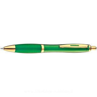 Ball pen with golden metal clip