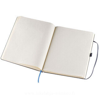 A4 notepad, lined, with elastic strap