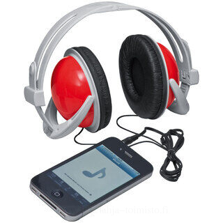 Earphones with big coloured earpiece