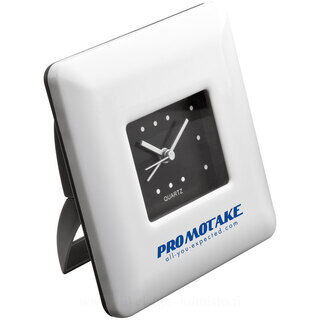 Desk clock with white frame
