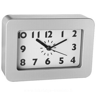 Plastic desk clock with black hands