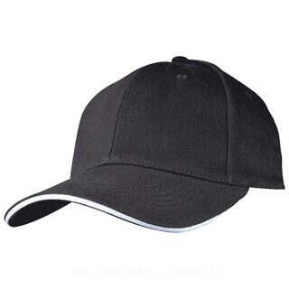 6-panel sandwich baseball cap