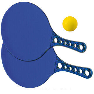 Beach ball set with two rackets and a ball