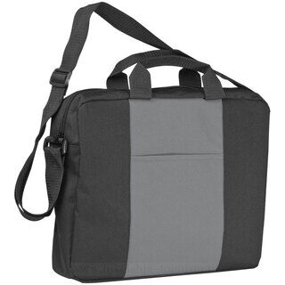 Shoulder bag with a broad stripe