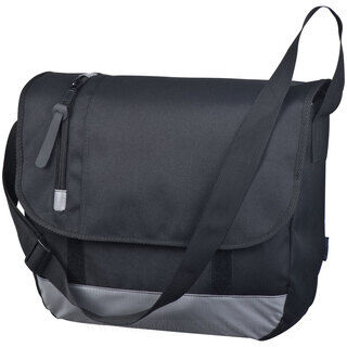 Black college bag with laptop compartment