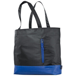 420D polyester shopper with coloured stripes