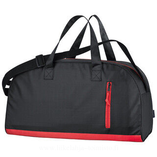 420D sports bag with coloured stripe