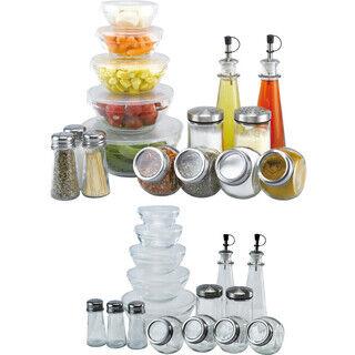 Glass kitchen set
