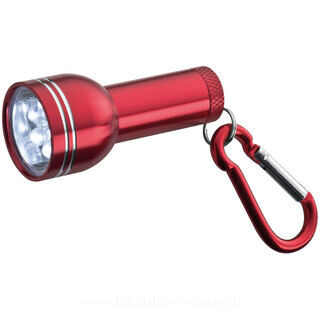 Torch with 6 LEDs and snaphook