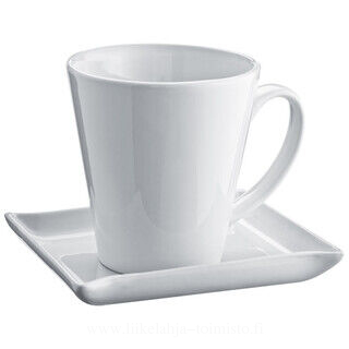 Set of coffee cup in V shape with coaster
