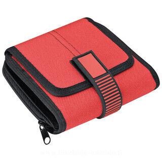 Unisex nylon zip-around wallet
