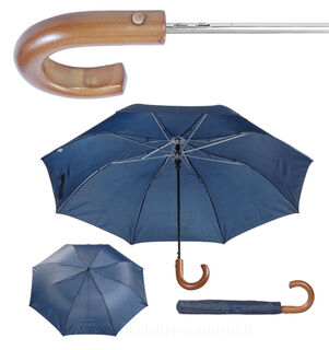 folding umbrella with wooden handle