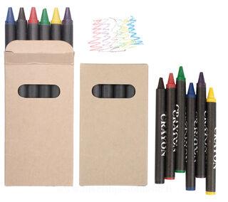 set of 6 crayons