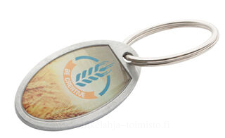 oval shaped keyring
