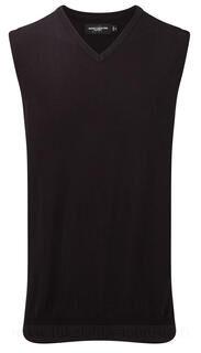Mens V-Neck Sleeveless Knitted Pullover 3. kuva