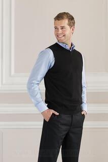 Mens V-Neck Sleeveless Knitted Pullover 2. kuva