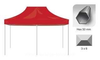 Pop up tent 3x6 Hex50